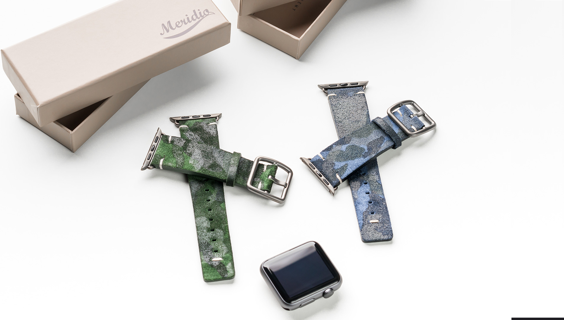 3fcebd345a0 Choose the right outfit with the new camouflage apple watch bands from the  suede collection by