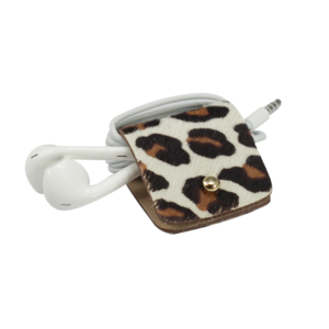 HeadPhone holder Caramel-Spotty cavallino leather made in Italy