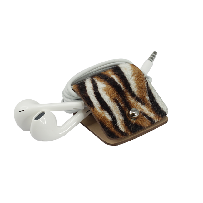 Headphone holder Bengal-Tiger cavallino leather made in Italy