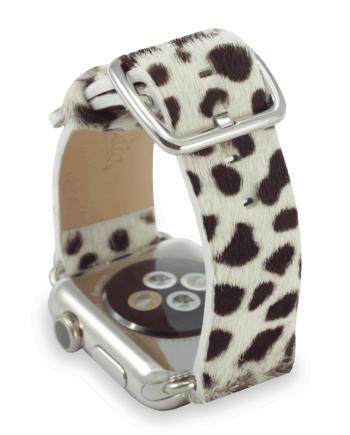 101 Dalmatian cavallino leather apple watch band handmade in Italy