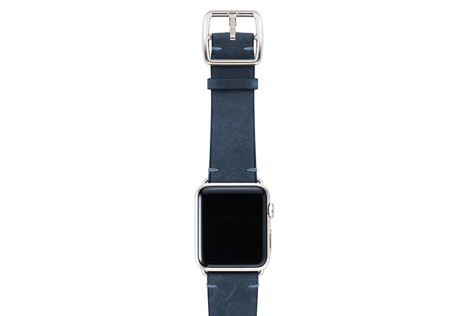 ArcticBlue-vintage-leather-band-top-silver