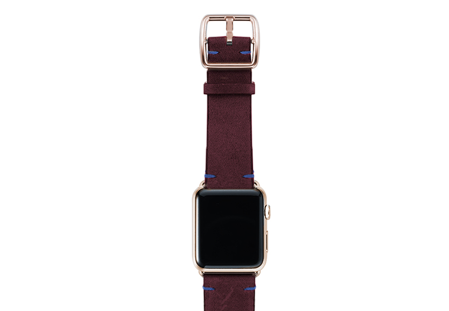 Colonial-red-band-with-stainless-gold-adaptors