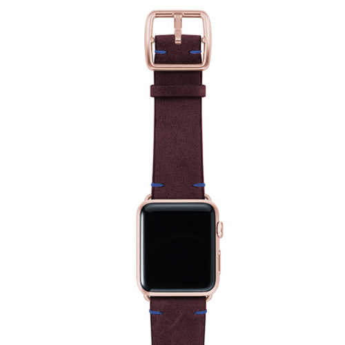 Colonialred-vintage-leather-band-top-rose-gold