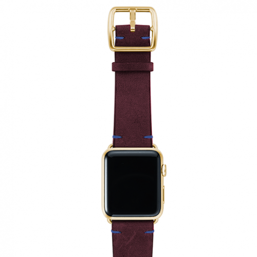 Colonialred-vintage-leather-band-top-yellow-gold