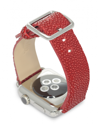 The red galuchat leather Meridio band is Maldives