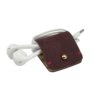 Headphone holder Colonial-Red nappa leather made in Italy