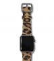 Spotted Cheetah space grey-Apple watch calf hair leather band