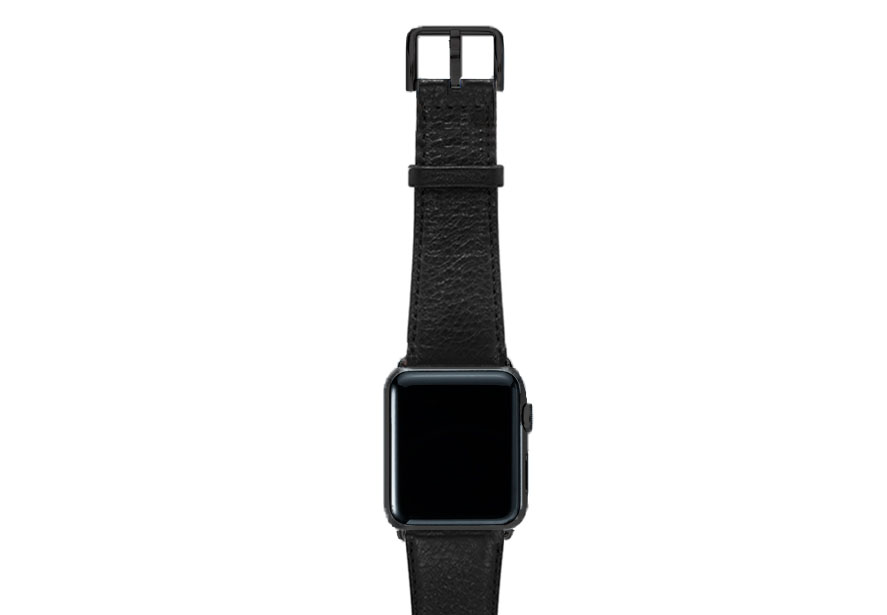 Ink-black-nappa-band-on-top-with-stainless-black-adaptors