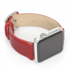 Maldives a galuchat leather Apple Watch band