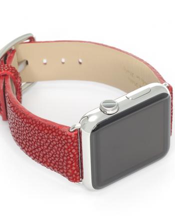 Maldives a galuchat leather Apple Watch band