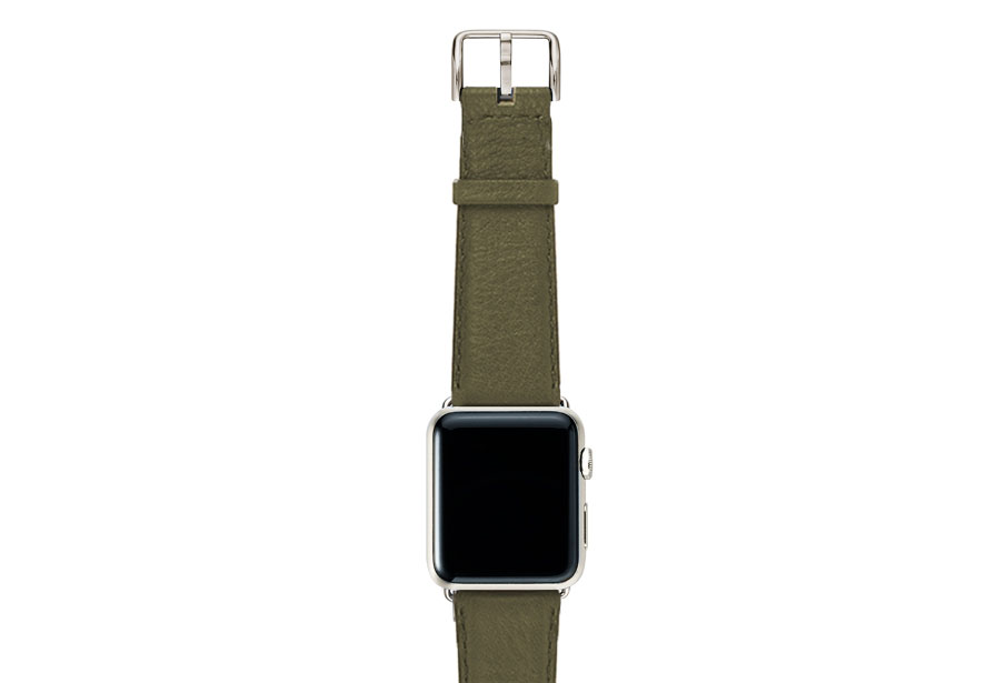 Musk-green-nappa-band-on-top-with-stainless-steel-adaptors