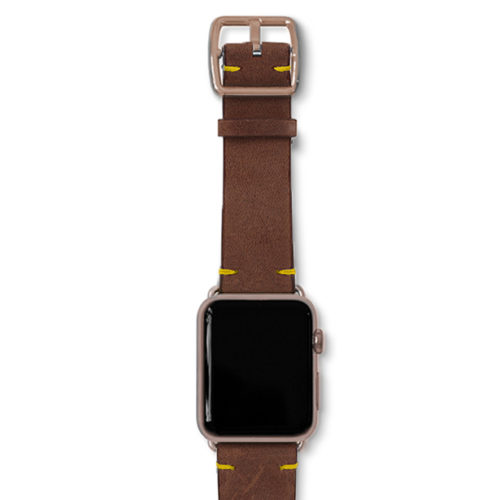 Old-brown-vintage-band-with-aluminium-gold-adaptors