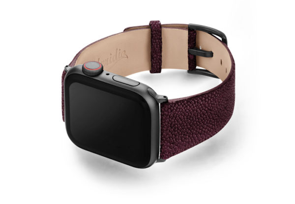 Purple-Rain-AW-stingray-leather-band-with-case-on-left