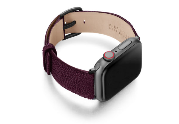 Purple-Rain-AW-stingray-leather-band-with-case-on-right