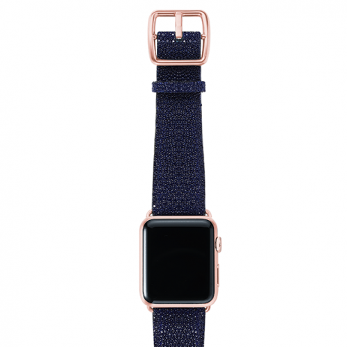 Royalblue-stingray-leather-band-top-rosegold