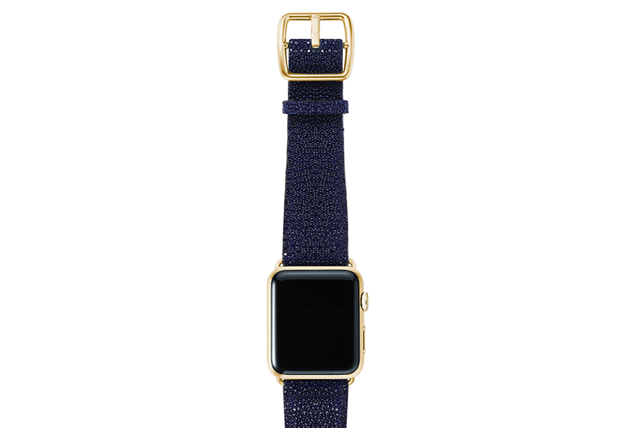 Royalblue-stingray-leather-band-top-yellowgold
