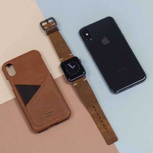 Smoked-Walnut-and-Barrel-light-brown-combo-Apple-leather-accessories-on-top