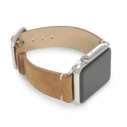 Smoked Walnut: a vintage leather Apple Watch band handmade in Italy