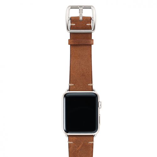 Smokedwalnut-top-vintage-leather-band-silver