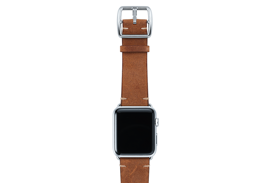 Smokedwalnut-top-vintage-leather-band-stainless