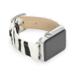 Stripey cavallino leather apple watch band handmade in Italy