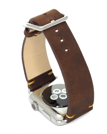 Old Brown a vintage nappa leather Apple Watch band