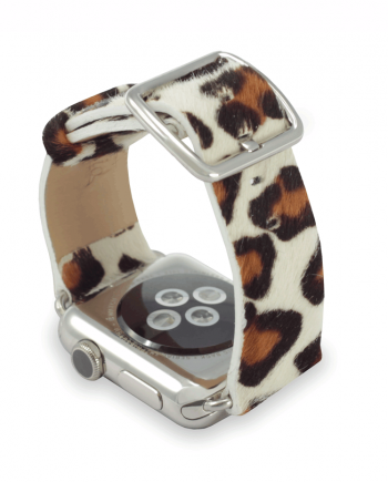 Whitey Spotty cavallino leather apple watch band handmade in Italy