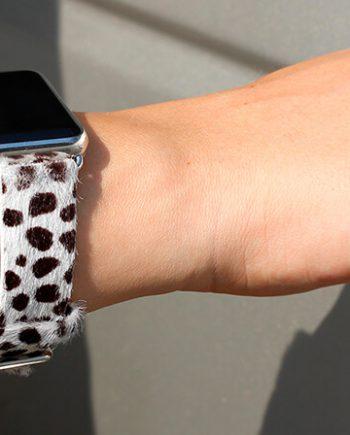 dalmatian-calf-hair-Apple-watch-leather-band