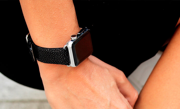 darksecret-black-tingray-leather-apple-watch-band