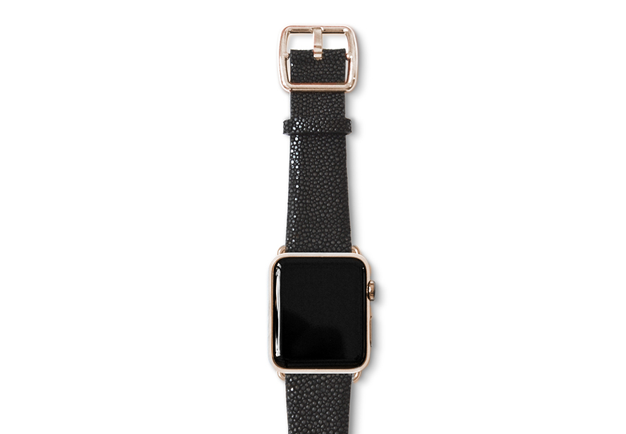 galuchat_Dark-Secret-band-with-stainless-gold-adaptors