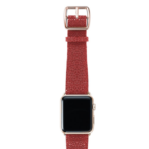 galuchat_Maldives_red-band-with-stainless-gold-adaptors