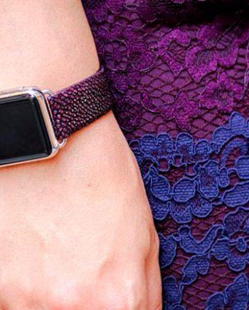 purplerain-purple-stingray-leather-apple-watch-band