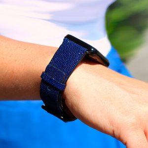 royal-blue-stingray-leather-apple-watch-band