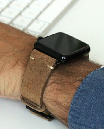 smoked-walnut-light-brown-vintage-Apple-watch-leather-band-black-case