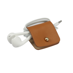 Headphone holder Light-Brown nappa leather made in Italy