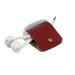 Headphone holder Maldives-Down galuchat leather made in Italy