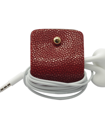 Headphone holder Maldives-Up galuchat leather made in Italy