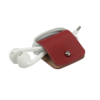 Headphone holder Red-Apple nappa leather made in Italy