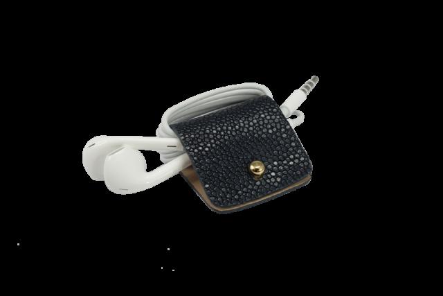 Headphone holder Royal-Blue galuchat