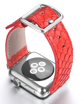 Matador red python apple watch band handmade in Italy