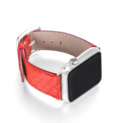 Matador red python apple watch band handmade in Italy