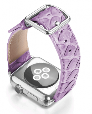 Vineyard violet real python apple watch band handmade in Italy