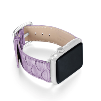 Vineyard Passage violet python apple watch band handmade in Italy