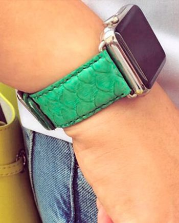 pillowmint-green-real-pythion-Apple-watch-band