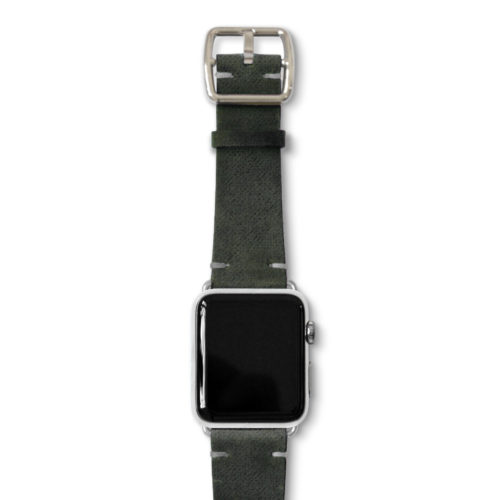 Touchstone-Vintage-Apple-watch-band-silver-case