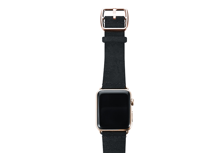 heritage_Forest-Black-band-with-stainless-gold-adaptors
