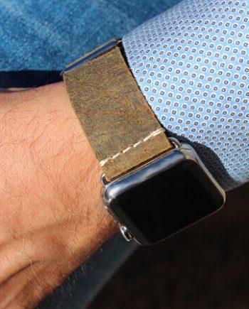khaki-sun-heritage-Apple-watch-leather-band-classic-man