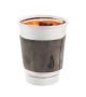 Light gray leather coffee cup sleeve