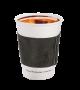 Dark gray leather coffee cup sleeve