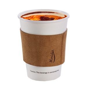 Light brown coffee cup sleeve